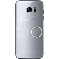 Etui Til Samsung Galaxy S7 edge S7 Ultratyndt Transparent Mønster Bagcover Helfarve Blødt TPU for S7 edge S7 S6 edge plus S6 edge S6