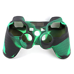 cheap PS3 Accessories-Protective Dual-Color Style Silicone Case for PS3 Controller (Army Green and Black)