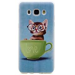 Case Kompatibilitás Samsung Galaxy J7 (2016) J5 (2016) Minta Hátlap Cica Puha TPU mert On 7 On 5 J7 (2016) J5 (2016) J3 J3 (2016) J1