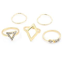 preiswerte Ringe-Damen Kristall Schmuckset - Türkis, Aleación Modisch 6 Silber / Golden Für Party / Alltag / Normal
