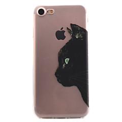 Недорогие Кейсы для iPhone 5-Кейс для Назначение Apple iPhone X iPhone 8 Кейс для iPhone 5 iPhone 6 iPhone 7 Прозрачный С узором Кейс на заднюю панель Кот Мягкий ТПУ