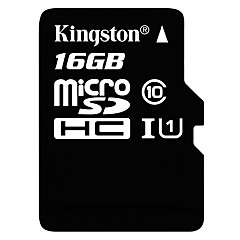 voordelige Micro SD-kaart-Kingston 16GB Micro SD Card TF Card geheugenkaart UHS-I U1 Class10