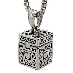 Недорогие Ожерелья-Муж. Ожерелья с подвесками ящик Нержавеющая сталь Титановая сталь Мода Панк Бижутерия Назначение Повседневные