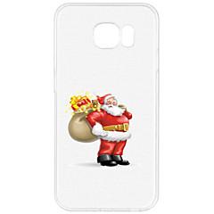 olcso Galaxy S3 tokok-Case Kompatibilitás Samsung Galaxy S7 edge S7 Minta Hátlap Karácsony Puha TPU mert S7 edge S7 S6 edge plus S6 edge S6 S5 Mini S5 S4 Mini