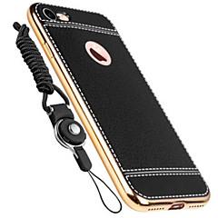 Для Покрытие Кейс для Задняя крышка Кейс для Один цвет Мягкий Натуральная кожа для AppleiPhone 7 Plus / iPhone 7 / iPhone 6s Plus/6 Plus