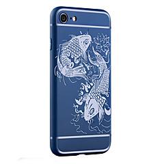 Недорогие Кейсы для iPhone-Кейс для Назначение Apple Кейс для iPhone 5 iPhone 6 iPhone 7 Защита от удара Матовое С узором Рельефный Кейс на заднюю панель Животное