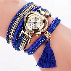 preiswerte Damenuhren-Damen Armband-Uhr Armbanduhr Quartz Cool Mehrfarbig PU Band Analog Charme Glanz Retro Schwarz / Weiß / Blau - Blau Rosa Hellblau