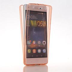 Tam Kaplama Kılıf Ultra-İnce Jednolity kolor TPU Miękki Case Kapak İçin Huawei Huawei P8 Lite