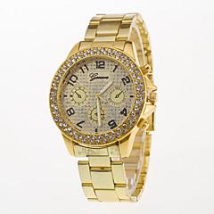 Męskie Modny Zegarek na nadgarstek Sztuczny Diamant Zegarek Kwarcowy / Stal nierdzewna Pasmo Na co dzień Srebro Złoty Różowe złoto