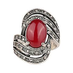 Męskie Damskie Pierscionek Modny luksusowa biżuteria Europejski Żywica Posrebrzany Imitacja diamentu Stop Biżuteria Na Ślub Impreza