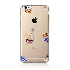 Для Прозрачный / С узором Кейс для Задняя крышка Кейс для Перо Мягкий TPU для AppleiPhone 7 Plus / iPhone 7 / iPhone 6s Plus/6 Plus /