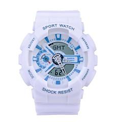 preiswerte Damenuhren-SANDA Sportuhr / Smartwatch / Armbanduhr Chronograph / Wasserdicht / LED Silikon Band Freizeit / Modisch Schwarz / Weiß / Blau / Duale Zeitzonen / Stopuhr / Nachts leuchtend