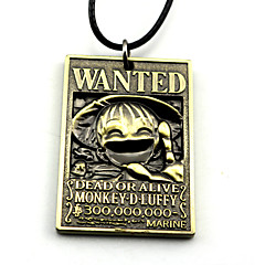 저렴한 -더 많은 악세서리 에서 영감을 받다 One Piece Monkey D. Luffy 에니메이션 코스프레 악세서리 목걸이 골드 / 실버 합금