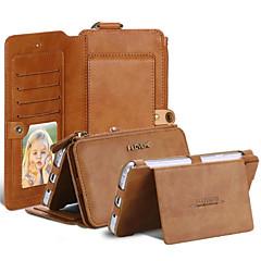 Для Кошелек / Бумажник для карт / Флип Кейс для Чехол Кейс для Один цвет Мягкий Искусственная кожа Samsung Note 5 / Note 4 / Note 3