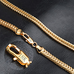 cheap Necklaces-Men's Women's Shape Fashion Chain Necklace Gold Chain Necklace Wedding Party Daily Casual Costume Jewelry