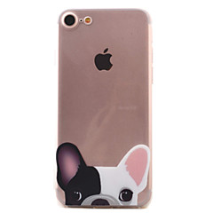 Para Estampada Capinha Capa Traseira Capinha Cachorro Macia TPU AppleiPhone 7 Plus / iPhone 7 / iPhone 6s Plus/6 Plus / iPhone 6s/6 /
