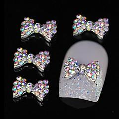 10pcs colorat papion stras DIY accesorii din aliaj de unghii arta decorativa