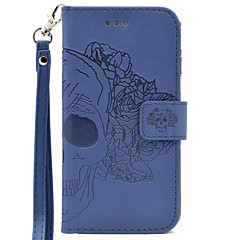 tanie Galaxy S3 Etui / Pokrowce-Kılıf Na Samsung Galaxy S7 edge S7 Etui na karty Portfel Wytłaczany wzór Futerał Czaszki Twarde Sztuczna skóra na S7 edge S7 S6 edge S6