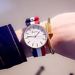 preiswerte Damenuhren-Damen Armbanduhr / / Mehrfarbig Stoff Band Freizeit / Modisch Blau / Edelstahl / Ein Jahr / Tianqiu 377