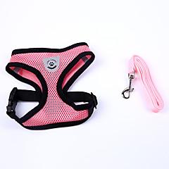 Dog Harness Adjustable / Retractable Soft Handmade Solid Nylon Black Red Blue Pink
