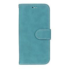 Недорогие Чехлы и кейсы для HTC-Кейс для Назначение HTC HTC Desire 626 Бумажник для карт Кошелек со стендом Флип Матовое Чехол Сплошной цвет Твердый Кожа PU для HTC One