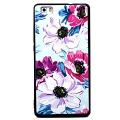 Для huawei p8 p9 четыре цветка узор tpu материал окрашенный рельеф телефон чехол для p8 lite p9 lite y5ii honor5a honor8 mate7
