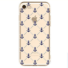 tanie Etui do iPhone 6s-Kılıf Na Apple iPhone X iPhone 8 Wzór Czarne etui Kotwica Miękkie TPU na iPhone X iPhone 8 Plus iPhone 8 iPhone 7 iPhone 6s iPhone 6