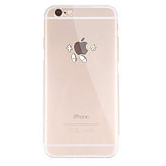 Недорогие Кейсы для iPhone 6 Plus-Кейс для Назначение Apple iPhone X / iPhone 8 / iPhone 8 Plus С узором Кейс на заднюю панель Композиция с логотипом Apple Мягкий ТПУ для iPhone X / iPhone 8 Pluss / iPhone 8