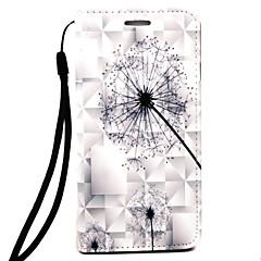 Для Кошелек / Рельефный Кейс для Чехол Кейс для Одуванчик Твердый Искусственная кожа для AppleiPhone 7 Plus / iPhone 7 / iPhone 6s Plus/6
