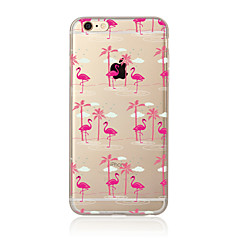 abordables Ofertas de Hoy-Funda Para Apple iPhone X / iPhone 8 Plus / iPhone 7 Traslúcido / Diseños Funda Trasera Flamenco Suave TPU para iPhone X / iPhone 8 Plus / iPhone 8
