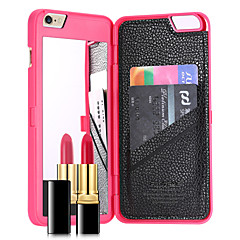 billige Etuier til iPhone 7-Etui Til Apple iPhone 8 iPhone 8 Plus iPhone 7 Plus iPhone 7 Kortholder Spejl Bagcover Helfarve Hårdt PC for iPhone 8 Plus iPhone 8