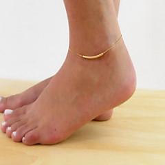 Kadın's Ayak bileziği/Bilezikler alaşım Basit Temel Mücevher Uyumluluk Günlük