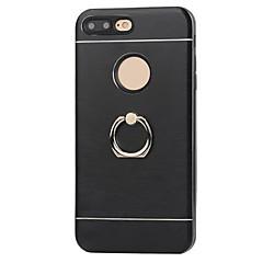 Для Защита от удара / со стендом / Кольца-держатели Кейс для Задняя крышка Кейс для Один цвет Твердый Металл AppleiPhone 7 Plus / iPhone