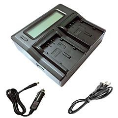 ismartdigi DU21 lcd double chargeur avec câble de charge de voiture pour panasonic gs78 GS108 GS27 GS28 GS500 DU14 DU21 batterys de caméra