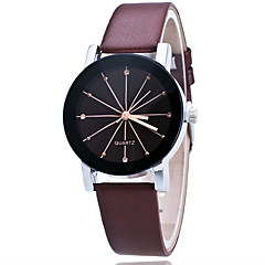 お買い得  メンズ腕時計-男性用 リストウォッチ クォーツ / 多色 レザー バンド ハンズ カジュアル ファッション ブルー - ブラック コーヒー レッド 1年間 電池寿命 / ステンレス / Tianqiu 377