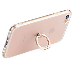 Til iPhone 7 iPhone 7 Plus iPhone 6 Etuier Ringholder Transparent Bagcover Etui Helfarve Blødt TPU for Apple iPhone 8 Plus iPhone 8