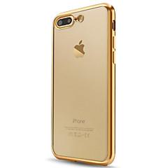 Недорогие Кейсы для iPhone 6 Plus-Кейс для Назначение Apple iPhone X iPhone 8 iPhone 6 iPhone 7 Plus iPhone 7 Покрытие Полупрозрачный Кейс на заднюю панель Сплошной цвет