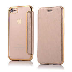 Недорогие Кейсы для iPhone 7 Plus-CaseMe Кейс для Назначение Apple iPhone 8 / iPhone 8 Plus / iPhone 7 Флип Чехол Однотонный Твердый Кожа PU для iPhone 8 Pluss / iPhone 8 / iPhone 7 Plus