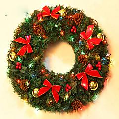 karácsonyi koszorú tűlevelek karácsonyi dekoráció házibuli átmérője 40cm navidad új év kellékek