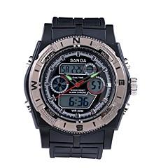 halpa Kellotarjoukset-SANDA Miesten Urheilukello Armeijakello Smart Watch Muotikello Rannekello Digitaalinen Japanilainen kvartsi Ajanotto Vedenkestävä LED