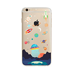 hoesje Voor Apple iPhone X iPhone 8 Plus iPhone 7 iPhone 6 iPhone 5 hoesje Doorzichtig Patroon Achterkantje Cartoon Zacht TPU voor iPhone