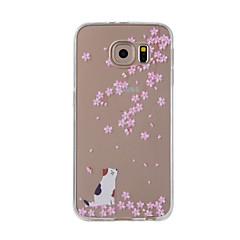 Для примечания галактики samsung 5 примечание 4 крышка случая вишня кошка покрашенная картина tpu материал случай телефона