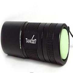 LED zseblámpák UV fényes elemlámpák Kézi elemlámpák LED 180 lm 1 Mód - Csúszásgátló markolat Újratölthető Vízálló Az ultraibolya fény