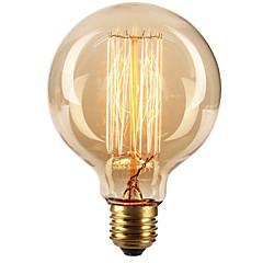 billige LED Super Sale-Ecolight™ 1pc 40W E27 E26 / E27 G80 Varm hvit 2300k Glødende Vintage Edison lyspære 220-240V