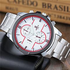 Masculino Relógio Esportivo Relógio Elegante Relógio de Moda Relógio de Pulso Quartzo Aço Inoxidável Banda Casual Branco Branco Preto
