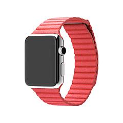 Horlogeband voor Apple Watch Series 3 / 2 / 1 Apple Polsband Leren lus