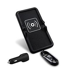 mindzo carro 5V2A universal veículo carregador sem fio monta padrão qi titular para o smartphone qi