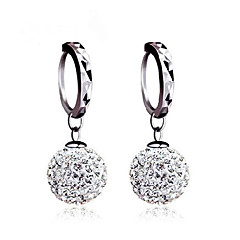 Dames Oorknopjes Ball Oorbellen Oorbel Basisontwerp Klassiek Sterling zilver Kubieke Zirkonia Gesimuleerde diamant Bal Sieraden Voor