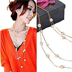 Mujer Strands Collares Joyas Perla Perla Artificial Elegant Nupcial joyería de disfraz Joyas Para Boda Fiesta Diario Casual