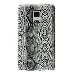 Недорогие Чехлы и кейсы для Galaxy Note Edge-Кейс для Назначение SSamsung Galaxy Защита от удара Кейс на заднюю панель Полосы / волосы Твердый Кожа PU для Note Edge